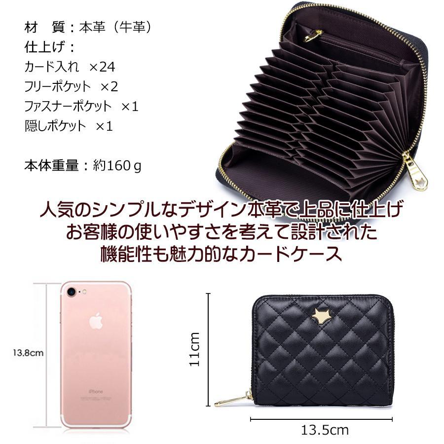カードケース 48枚以上収納可能 大容量 本革 カード入れ ミニ財布 RFID スキミング防止 じゃばら式 レディース お洒落なデザイン|mister-smart|06