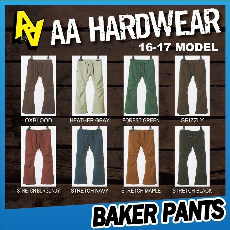 【即納】16-17 AA HARDWEAR(ダブルエーハードウェア) BAKER PANTS 早期割引45%OFF 【送料無料】【代引き手数料無料】