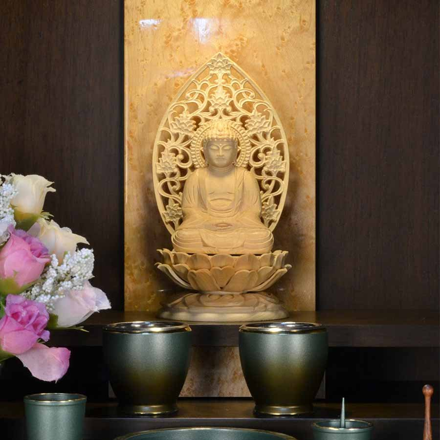 仏壇 モダン ミニ仏壇 ときわ 上置き型 18号 日本製 メープル アガチス おしゃれ スタイリッシュ 送料無料|misuhei|12