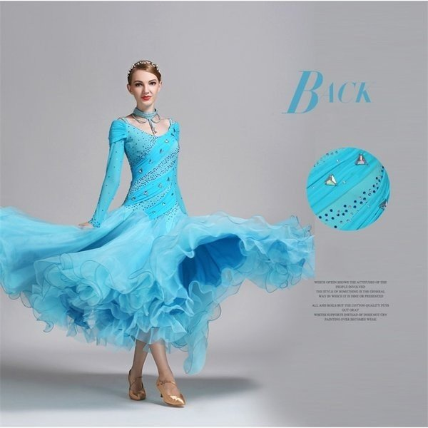 送料無料 社交ダンス衣装社交ダンスドレスダンスウェアモダンドレスダンス衣装ガールズ社交ダンス競技用のドレススタンダードドレスnarde052