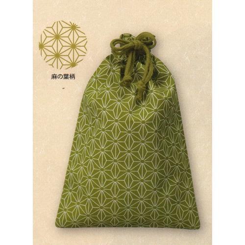 和風柄 巾着(小)麻の葉柄【お得なケース買い·単色で500枚売り】【送料無料】