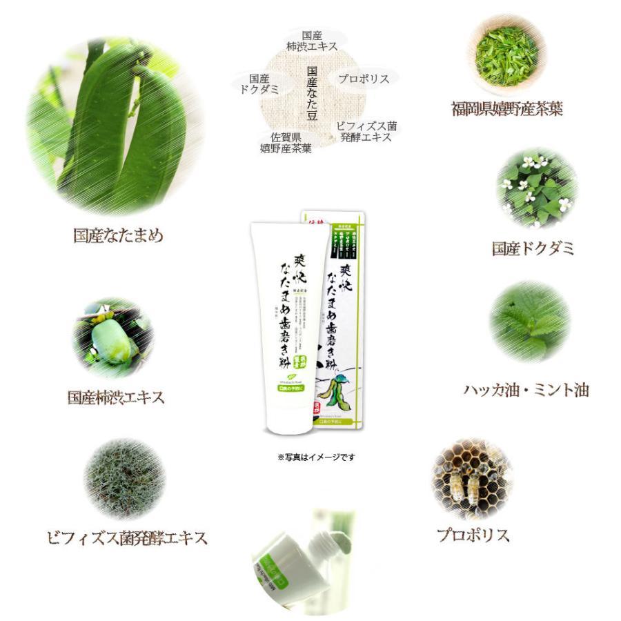 「初回限定 お試しセット」 伝統爽快 なた豆歯磨き粉 (120g) 柿渋配合 人気 口臭 スッキリ すっきり なたまめ歯磨き粉 おまけ付|mitsubachi-road|04