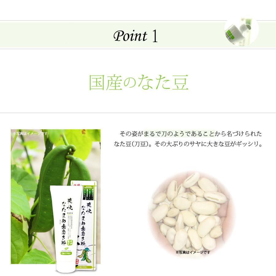 「初回限定 お試しセット」 伝統爽快 なた豆歯磨き粉 (120g) 柿渋配合 人気 口臭 スッキリ すっきり なたまめ歯磨き粉 おまけ付|mitsubachi-road|05