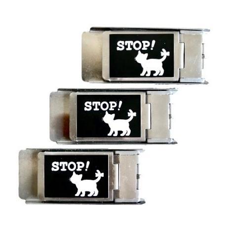 網戸ロック 3個セット にゃんにゃんストッパー 初回限定 記念日 猫 脱走 防止 補助錠 ブラック