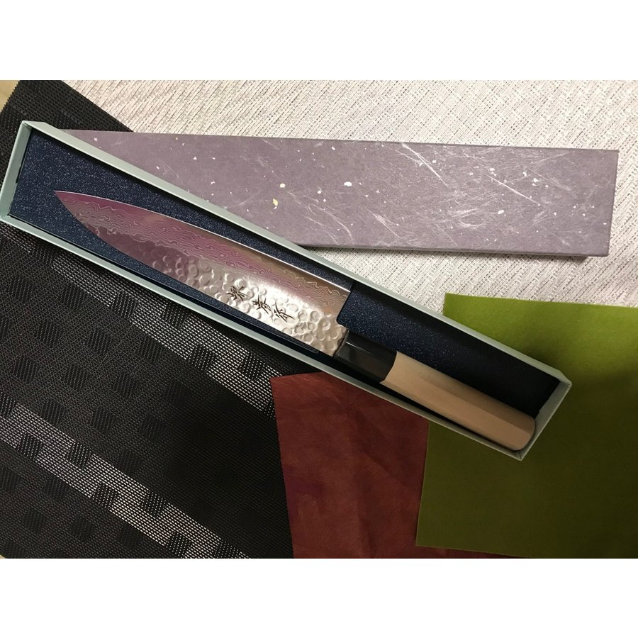 堺孝行 ダマスカス45層鋼 和式牛刀 240mm|mitusaburo