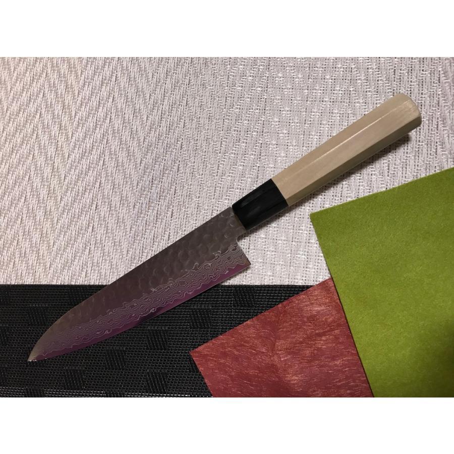 堺孝行 ダマスカス45層鋼 和式牛刀 240mm|mitusaburo|05