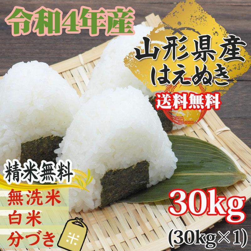 米 お米 はえぬき 玄米30kg 令和2年産 山形産 白米・無洗米・分づきにお好み精米 送料無料 当日精米
