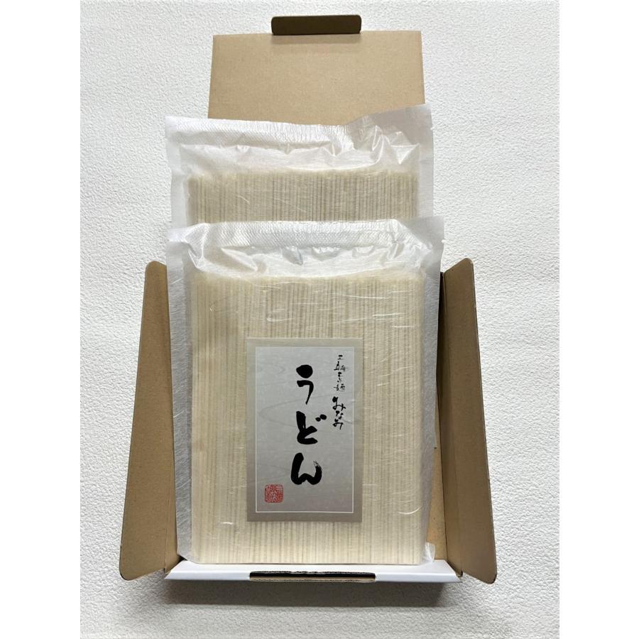 うどん 手延うどん 500g×2袋 三輪素麺みなみ 乾麺 家庭用 段ボール箱入り miwaminami-store