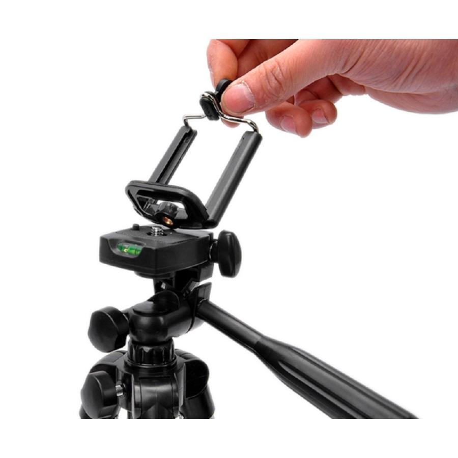 三脚 軽量 カメラ コンパクト スマホホルダー ミニ ビデオ ケース 一眼レフ ビデオカメラ スマホ固定 アルミ テレワーク iphone スタンド 延長 スマホ 脚立 miwoli-y 07