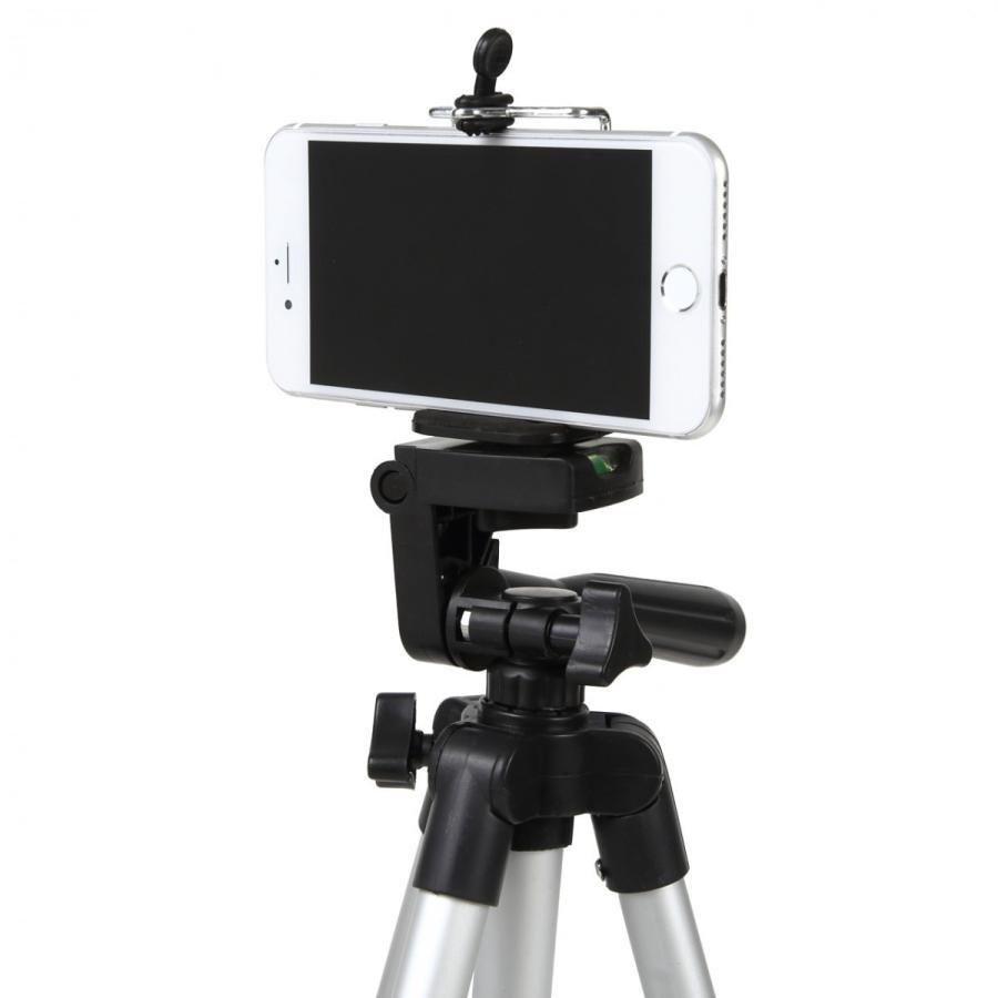 三脚 軽量 カメラ コンパクト スマホホルダー ミニ ビデオ ケース 一眼レフ ビデオカメラ スマホ固定 アルミ テレワーク iphone スタンド 延長 スマホ 脚立 miwoli-y 08
