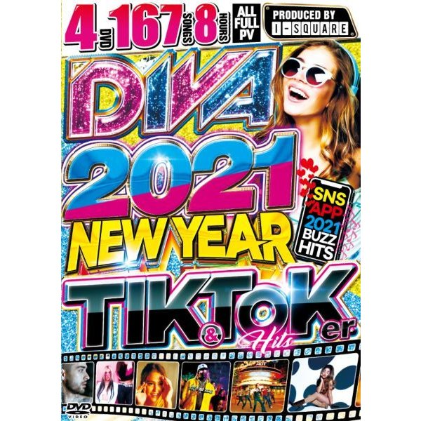 2021 洋楽PV集 新年 4枚組 人気シリーズ 洋楽DVD MixDVD Diva 2021 -New Year Tik & Toker Hits / I-Square[M便 6/12]|mixcd24