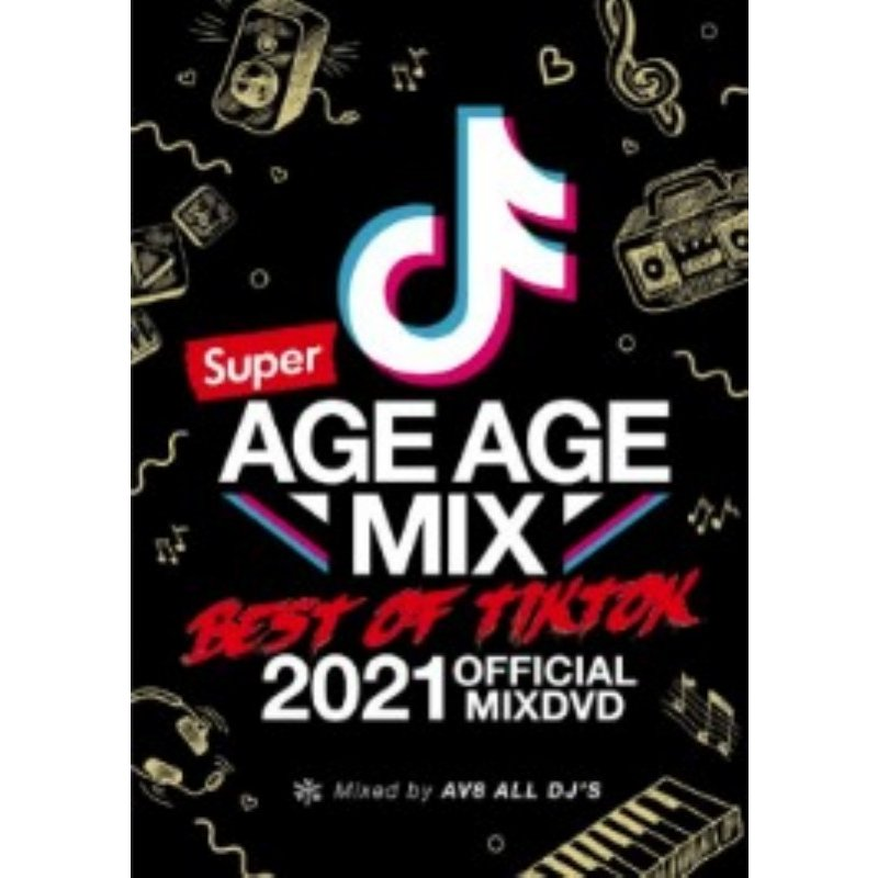 TikTok SNS ヒップホップ Ramp;B 洋楽DVD MixDVD Super Age Mix -Best M便 Tik AV8 6 Of 在庫処分 All トラスト Official 12 DJ#039;s Tok-