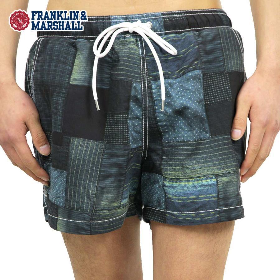 フランクリンマーシャル 正規販売店 メンズ スイムパンツ SWIM PANTS INDIGO PATCHWORK BWUA