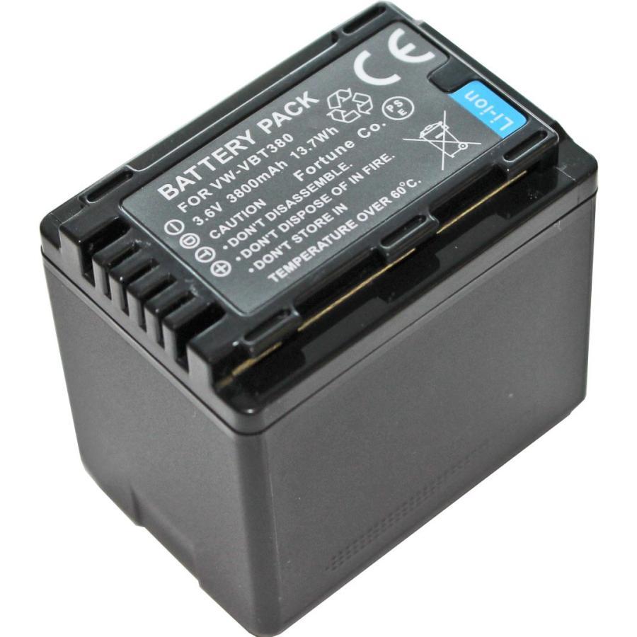 TKG VW-VBT380-K VW-VQT380-K パナソニック互換バッテリー 在庫一掃売り切りセール HC-W590M ご予約品 等に対応 HC-W850M HC-W580M WZ590M