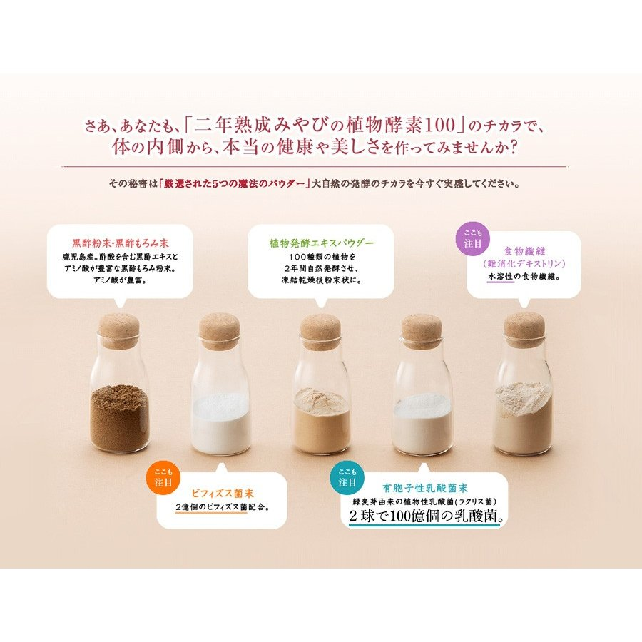 酵素サプリメント みやびの植物酵素サプリ100 メール便なら送料330円 miyabi-store 17