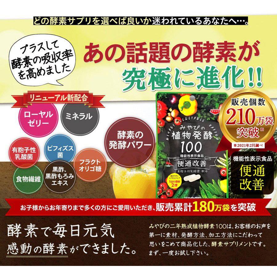 酵素サプリメント みやびの植物酵素サプリ100 メール便なら送料330円 miyabi-store 04