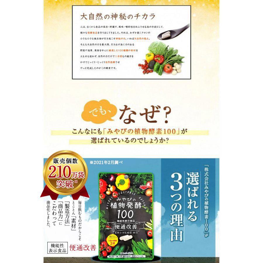 酵素サプリメント みやびの植物酵素サプリ100 メール便なら送料330円 miyabi-store 10