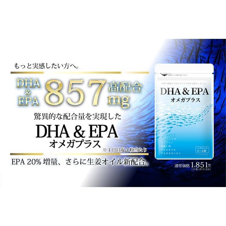 DHA&EPA オメガプラス オメガ3サプリ 120球 メール便なら送料330円 DHA EPA サプリメント EPA増量 miyabi-store 02