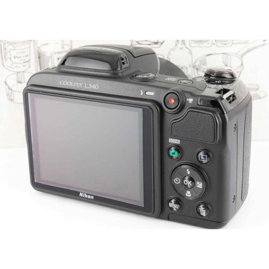 ニコン クールピクス Nikon COOLPIX L340 コンパクトデジタルカメラ 望遠 中古 スマホ転送 miyabicamera 03