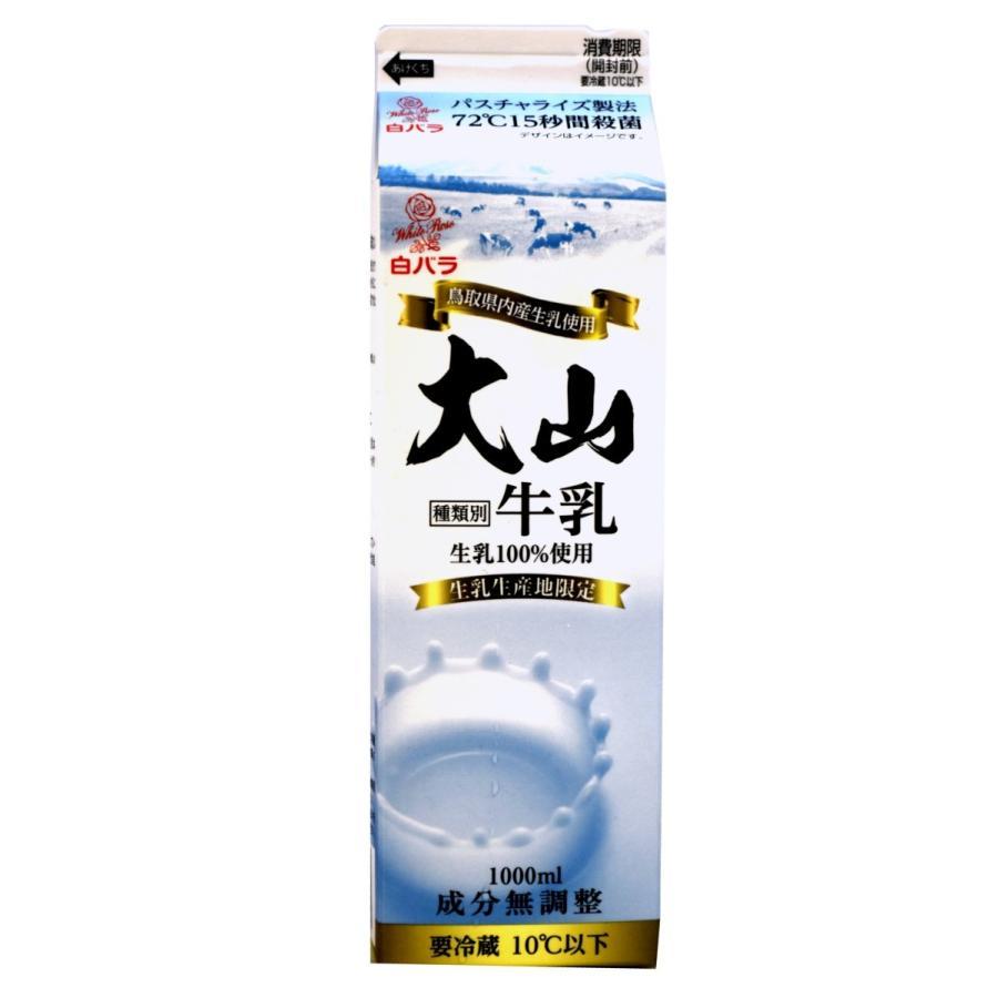 大山乳業 メーカー在庫限り品 豊富な品 特選 大山 1000ml 白バラ牛乳 低温殺菌乳 パスチャライズ製法