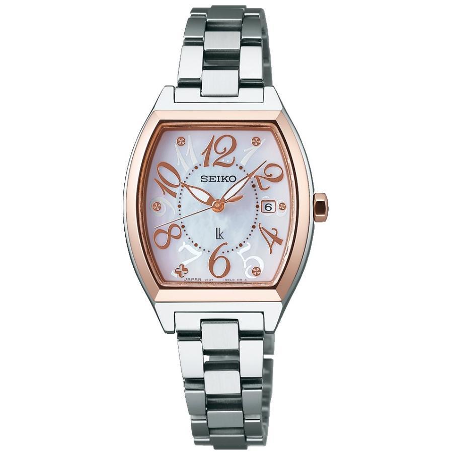 【特価】 セイコー ルキア (SEIKO LUKIA) 腕時計 SSVN026 ソーラー 白蝶貝ダイヤル, 海心 47d4a336