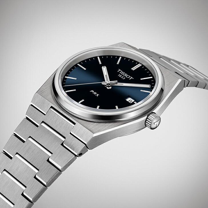 当店限定「10%OFFクーポン&倍倍ストア」┃TISSOT PRX ティソ ピーアールエックス 腕時計 メンズ クオーツ T137.410.11.041.00(18回無金利)|miyagawa-watch|04