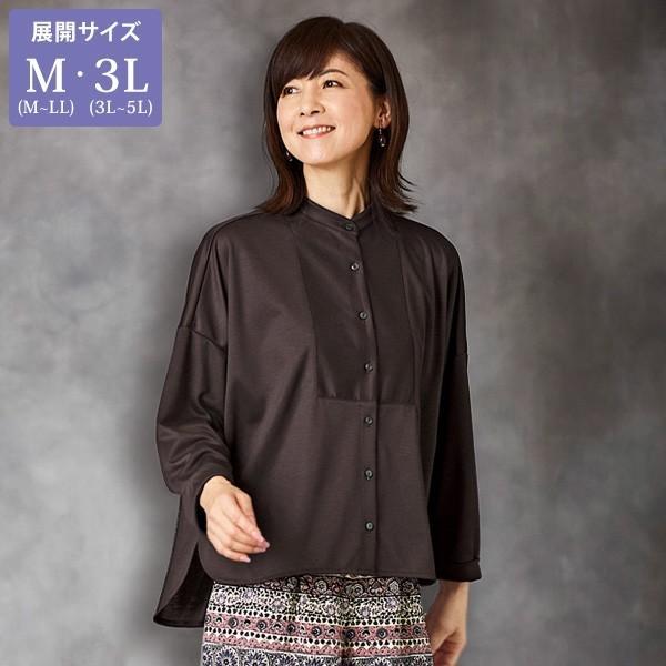 最新のデザイン ゆったりドルマンブラウス / 大きいサイズ M 3L / 50代 60代 70代 80代 ファッション ミセス シニア レディース 婦人服 百貨店販売商品 ブラウス ドルマン, チバシ b5b1c67b