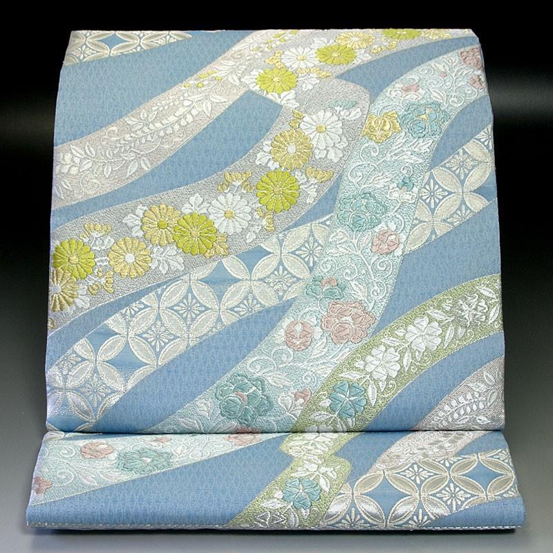 西陣河合美術織物 袋帯 有職鬘帯文