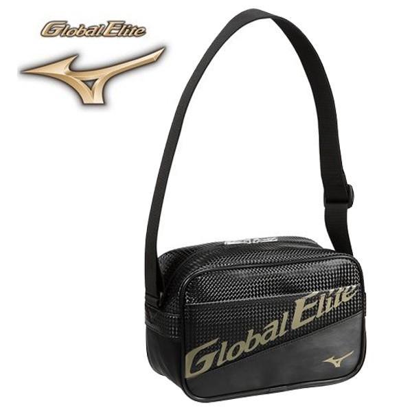 ミズノ グローバルエリート ショルダーバッグ ミニショルダー ブラック×ブラック 野球バッグ おトク 1FJD891790 品質保証