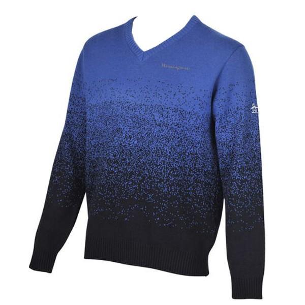【値下げ】 ゴルフセーター マンシングウェア ゴルフウエア Vネックセーター MGMOJL08 BLNV ブルー×ネイビー 送料無料 Lサイズ, こだわりのアメカジ通販ラグタイム 895d2457