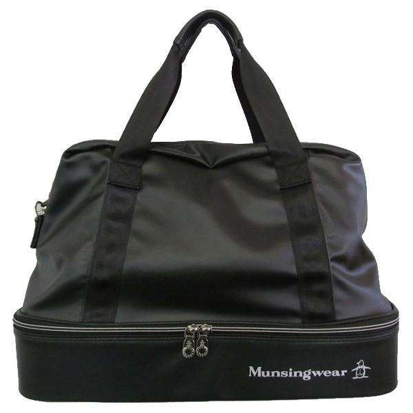 ゴルフボストンバッグ マンシングウェア ゴルフバッグ 2層式 シューズポケットあり MQBNJA06 BK ブラック 送料無料