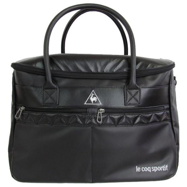 ゴルフボストンバッグ ルコック ゴルフバッグ シューズポケットあり QQBNJA02 BK ブラック 送料無料