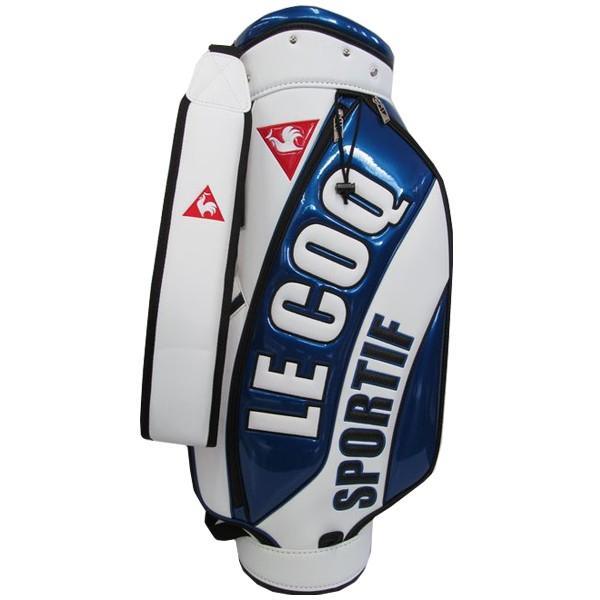 ゴルフキャディバッグ ルコック QQBNJJ05 BL ブルー 送料無料 軽量