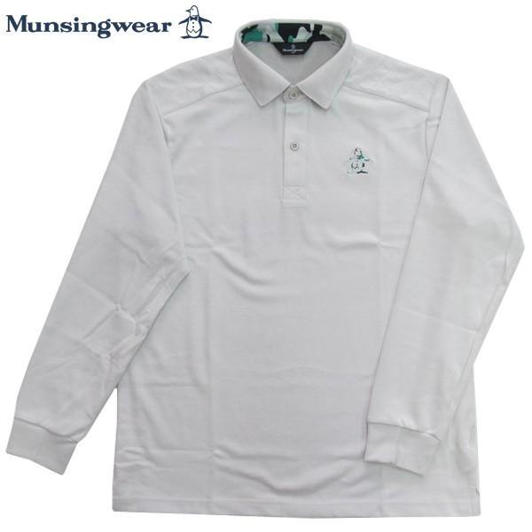 ゴルフポロシャツ長袖 マンシングウェア ゴルフウエア SG1360 N921 オフホワイト 送料無料 LLサイズ