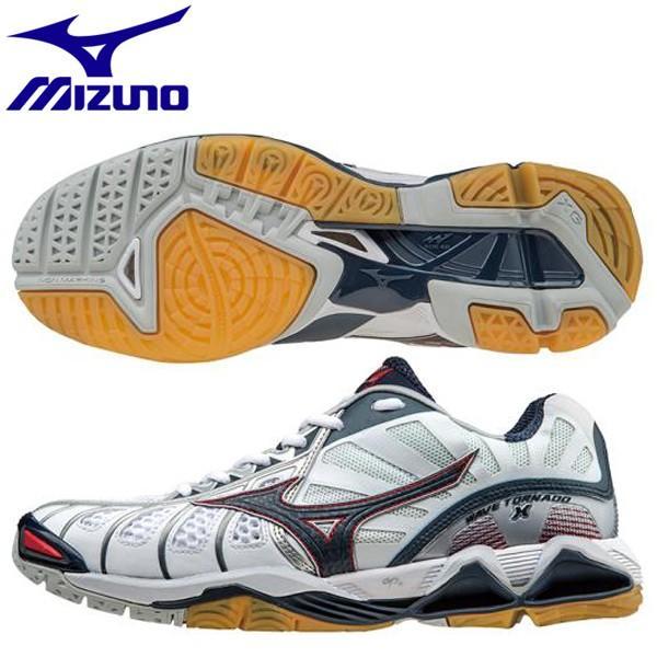 バレーボールシューズ ミズノ ウエーブトルネードX V1GA161215 ホワイト×ネイビー×レッド :V1GA161215:スポーツミヤスポ ヤフー店 通販 Yahoo!ショッピング