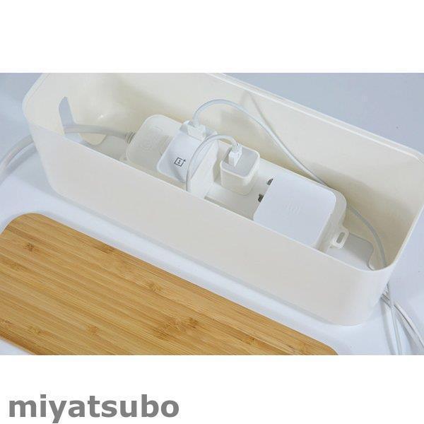 ケーブルボックス 電源タップ収納 ケーブルカバー コンセント/配線隠し 竹製蓋 温度上昇防止 簡単に掃除 スッキリ 卓上 北欧風 リビング/寝室/テーブル/事務室 miyatsubo 04