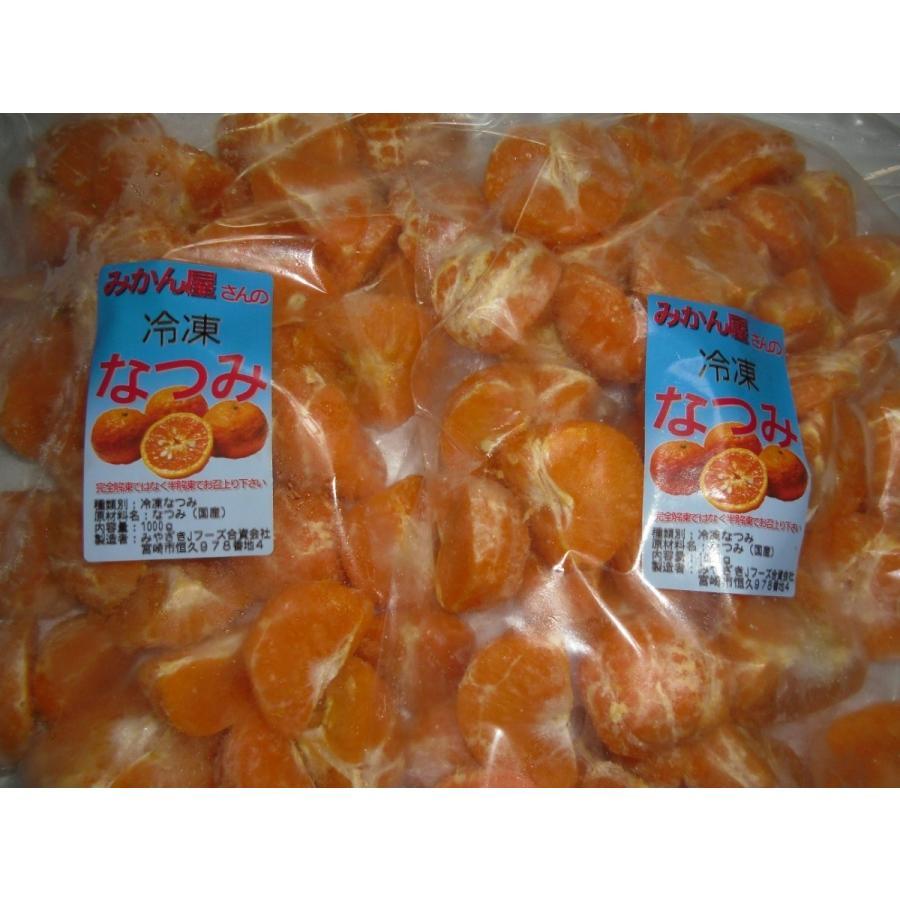 年間定番 訳あり 冷凍なつみ 南津海 国内在庫 みかん 宮崎県産みかん ご家庭用 ご自宅用 2kg 1kg×2袋
