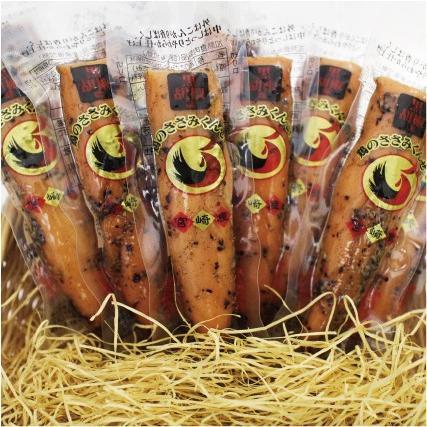ささみ くんせい 燻製 鶏のささみくんせい 黒胡椒味 10本入 雲海物産 BL10 0000045175015|miyazakikonne|03