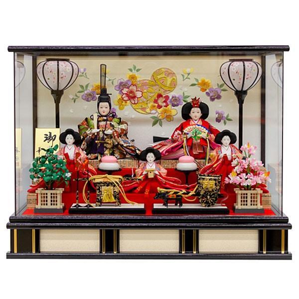 雛人形 ひな人形 ケース飾り 雛飾り 節句人形 五人飾り 五人ケース飾り 3330-82-007F