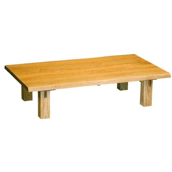 150cm幅 座卓 ローテーブル ローテーブル タモ無垢集成材 エブリー 開梱設置
