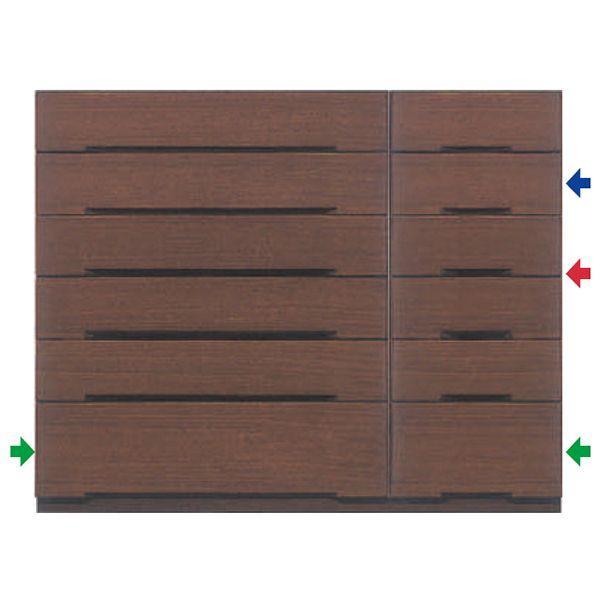 MARUTA MAZE メイズ 家具 婚礼家具 タンス 環境対応 開梱設置 チェスト 整理タンス 128-6段チェスト(入浅) ブラックチェリー
