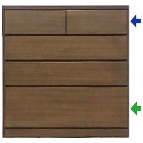 MARUTA NOOSA 家具 婚礼家具 タンス 環境対応 開梱設置 80-4段チェスト(入浅) ウォールナット/ホワイトオーク