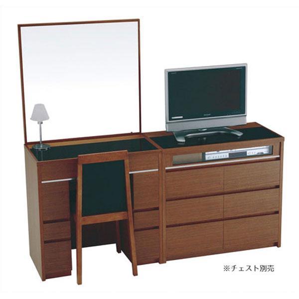 開梱設置 ドレッサー 化粧台 一面鏡 イス付 4色対応 シュバリエ75 シュバリエ75 14一面