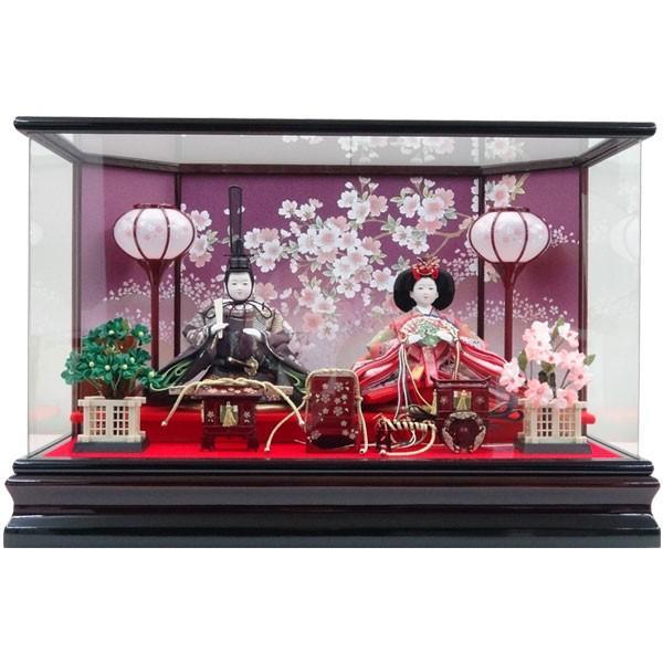 雛人形 ひな人形 衣装着人形 アクリルケース 親王飾り 親王ケース飾り 172A-63