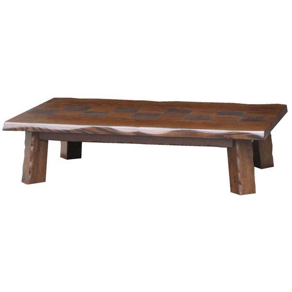 不代引き不可 代引き不可 国産 テーブル 座卓 ネジ止め 135cm幅 秀の華