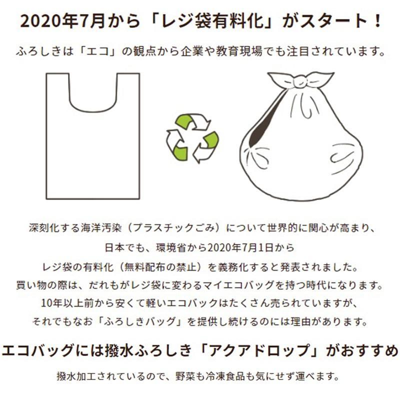 風呂敷 レスキュー アクアドロップ 100cm レジ袋有料化対策 エコバッグ バッグ コンパクト たためる 折りたたみ 大きい風呂敷  ふろしき レジカゴ レディース お|miyoshi-ya|10