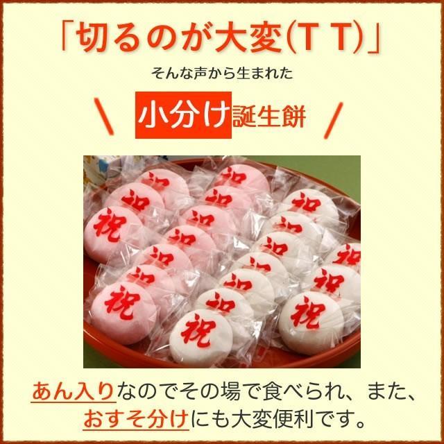 一升餅 一生餅 小分け あんこ 笑顔包装1歳の誕生日のお祝い お 誕生餅 セット 紅白 あん餅 20個入り 一升餅小分け リュック 付き miyoshiya-mochi 03