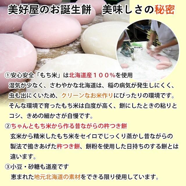 一升餅 一生餅 小分け あんこ 笑顔包装1歳の誕生日のお祝い お 誕生餅 セット 紅白 あん餅 20個入り 一升餅小分け リュック 付き miyoshiya-mochi 05
