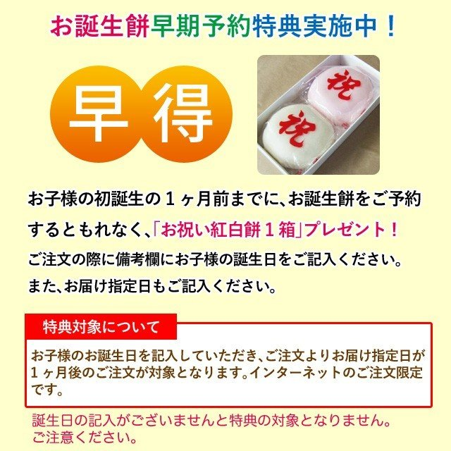 一升餅 一生餅 小分け あんこ 笑顔包装1歳の誕生日のお祝い お 誕生餅 セット 紅白 あん餅 20個入り 一升餅小分け リュック 付き miyoshiya-mochi 08
