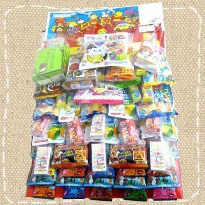 お祭り・イベント用 お菓子のくじ引き お菓子台紙当て60付|mizota